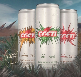 Cacti Agave Seltzer Cans