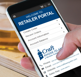 Craft Rhode Island Retailer Portal cell phone image